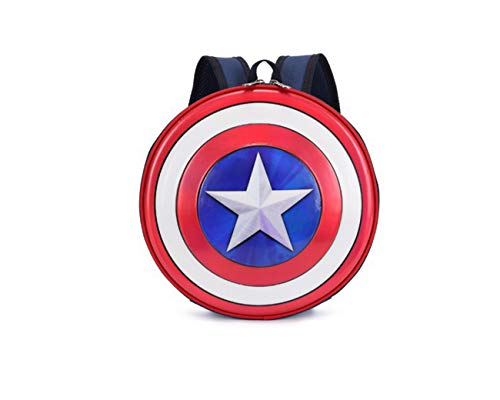 Captain Super Hero America Shield Children Shoulder Bag Travel School Backpack]()