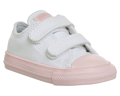 Converse Chuck Taylor All Star II 2V White/Vapor Pink Textile Baby Trainers Pink (Whitevapor Pink Whitevapor Pink)