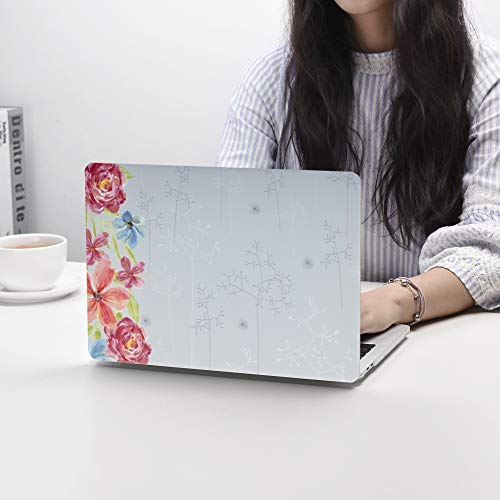 Case Star MacBook Pro 13 Inch Case 2019 2018 2017 2016 Release A1706 A1708 A1989 A2159 Ultra Thin Plastic Hard Sleeve Cover & Keyboard Cover & Anti-dust Brush (Rose Pattern)