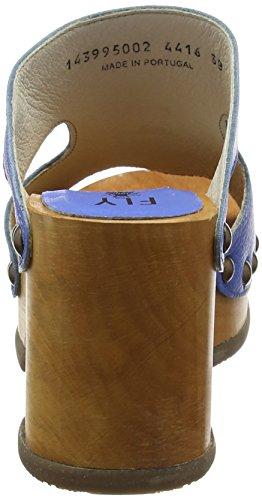 Blue Bleu 002 Femme Ouvert London Sandales FLY Rhia995 Smurf Bout x7q68pCUw