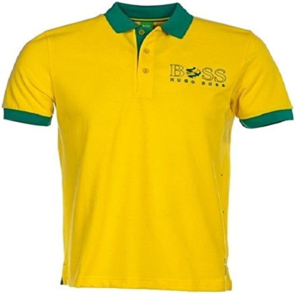 BOSS Hugo Polo - para Hombre Amarillo Amarillo Large: Amazon.es ...