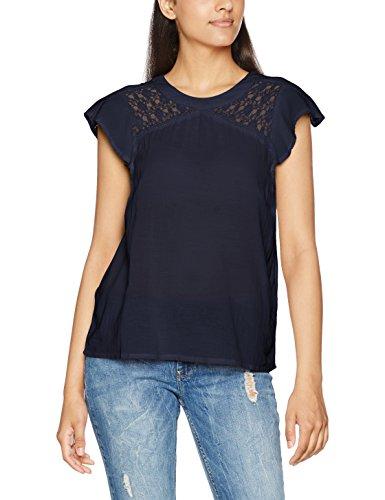Vero Moda Vmpingo Capsleeve Top a, Camiseta para Mujer Azul (Navy Blazer)