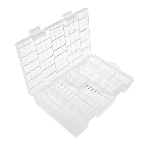 FENICAL Transparent Storage Case for AA AAA C D 9V Hard Plastic Battery Case Holder Organizer