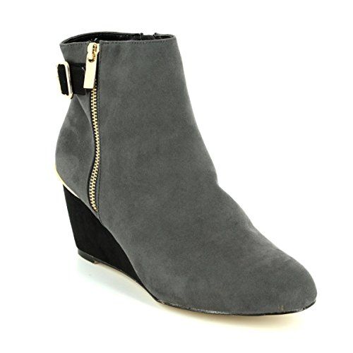 Lotus Cassia Womens Dress Ankle Boots Grey/Black