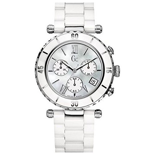 (GUESS Gc DIVER CHIC White Ceramic Chronograph )