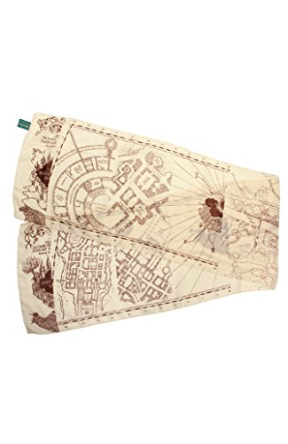 Harry Potter Marauder's Map Lightweight Scarf for Women Beige]()