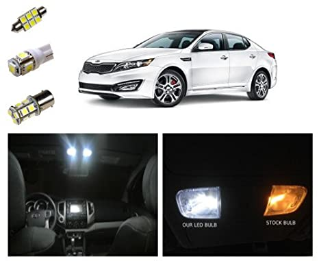 11+ Kia Optima LED Package Interior + Tag + Reverse Lights (11 Pieces)