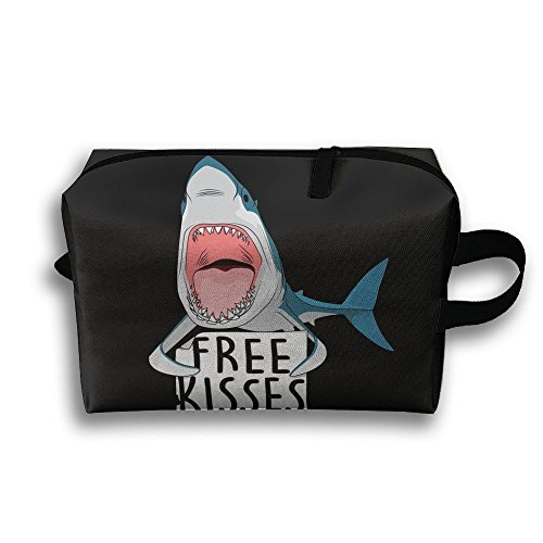 Travel Pouch Storage Bags Baskets Free Kisses Shark Whale Waterproof Fabric Cosmetic Bags 45x35cm