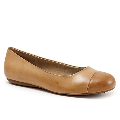 - Softwalk Womens Napa Flats Luggage/tan, Size-7.5M