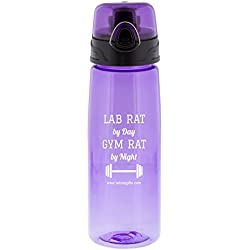 "Lab Rat Gifts WB010 Tritan ""Gym Rat"" Sports Bottle, 25 oz."