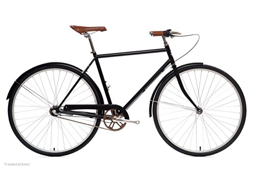 State Bicycle Co. City Bike   The Elliston Lightweight 3-Speed Dutch Style Urban Cruiser   Large 58cm