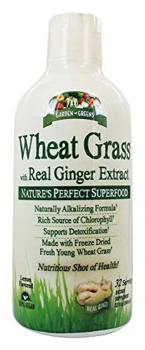 Garden Greens Wheat Grass with Real Ginger, 32 Fluid Ounce