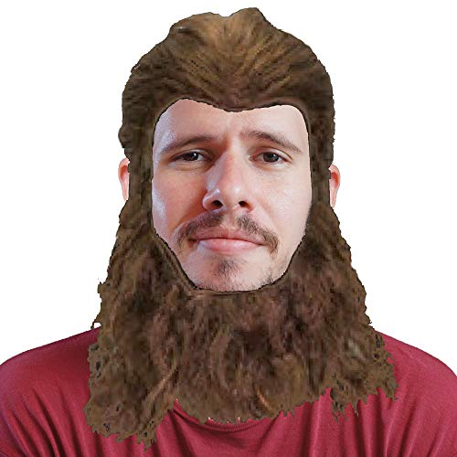 Brown Wild Beast Wig and Beard Set