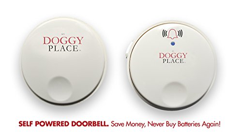 My Doggy Place - Dog Pet Children Toddler, Wireless Doorbell, No Batteries Required, Electronic Chime Bell, Potty Training, for Small, Medium, Large Dogs (One Transmitter - One Receiver) by My Doggy Place (Image #1)