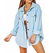Lacozy Women's Trench Coat Notch Lapel Open Front Cardigan Sweater Single Breasted Jacket
