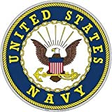 """United States Navy Aluminum Sign Round 12"""" Inches Navy Duty Honor Country Bold Eagle"""
