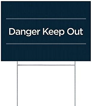 CGSignLab Danger Keep Out 5-Pack 18x12 Stripes Blue Double-Sided Weather-Resistant Yard Sign