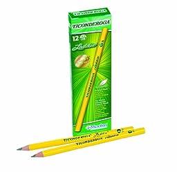 Dixon Ticonderoga Laddie Intermediate #2 Pencils Without Erasers, Box Of 12, Yellow (13040)