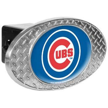 Chicago Cubs American Metal - MLB Chicago Cubs Metal Diamond Plate Trailer Hitch Cover