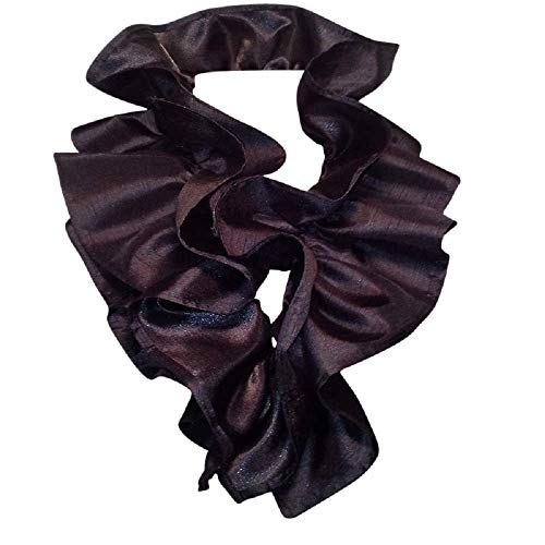 Ruffle Scarf - Scarf Art Women's Scarf Pre-tied Pre-designed Detachable Black Ruffle Collar Scarf Accessory