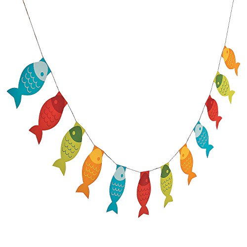 Little Fisherman Fish Paper Pennant Banner