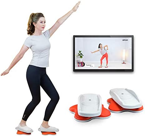 DIPDA LINE: Easy & Exciting Home Dance Twist Workout Equipments, APP Guide and Online Video Streaming Service. Super Silence & Portable 3.3 Pounds 1.5 Kg
