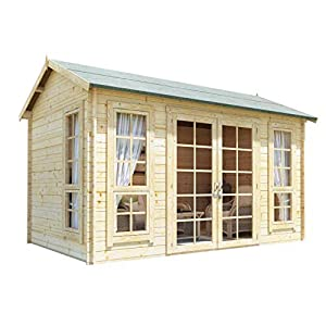 12x8 Summer House Log Cabin Kit 28mm