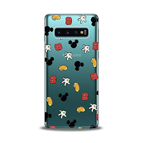 Lex Altern Samsung Galaxy TPU Case s10 Plus A6s s9 Plus A8 s8 A9 Note Mickey Mouse Cute Clear Pattern Kids Cover Silicone Print Kawaii Protective Girlish Boy Design Durable Cartoon Transparent Women -