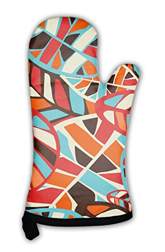 Gear New Oven Mitt  Abstract Leaves Pattern  Gn2258