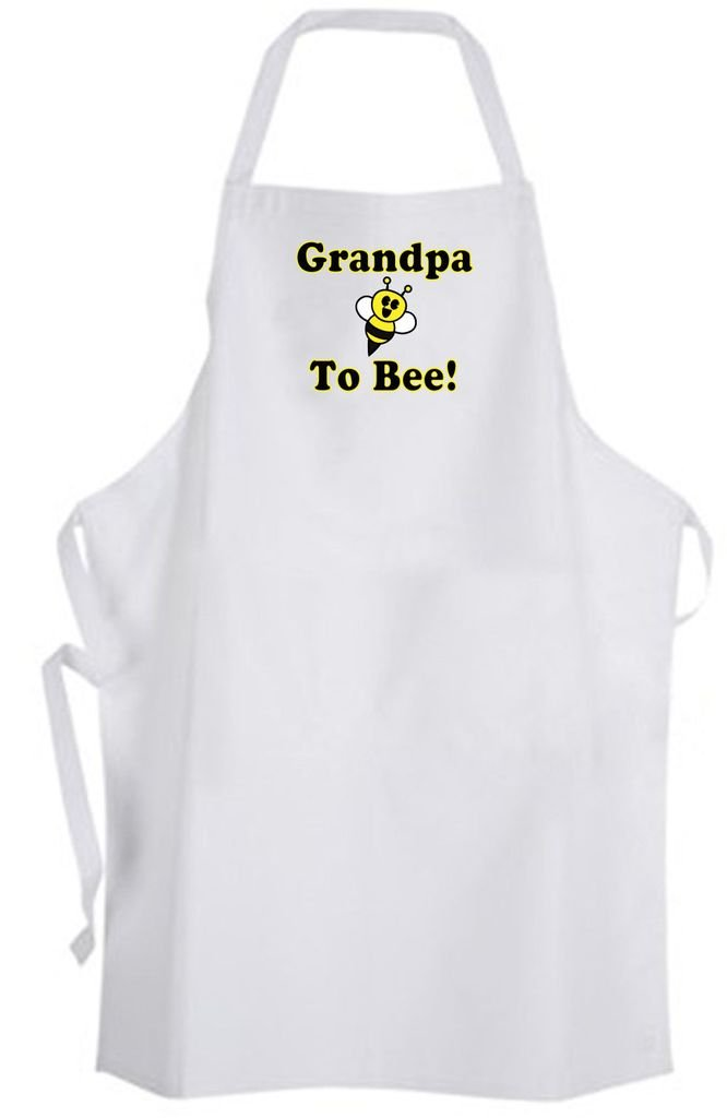 Grandpa To Bee! Adult Size Apron - Cute Funny Humor New Baby Wedding