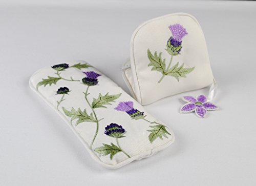 Justina Claire Jewlry Purse/Eyeglasses Case Gift Set in an Alba Thistle Design