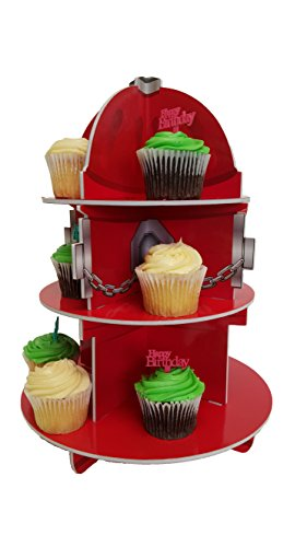 Cupcake Stand For Children's Parties, Fire Hydrant, Fire Fighter Theme!