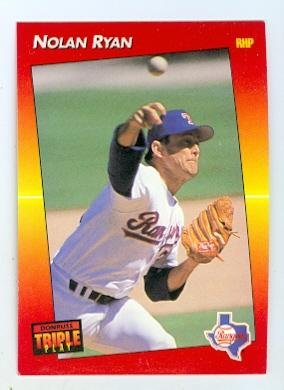 Nolan Ryan Baseball Card Texas Rangers Hall Of Famer 1992