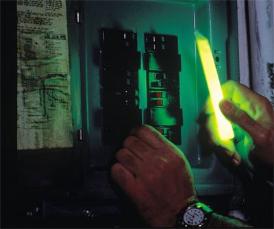 Emergency Light System - Wall Mount - Chemical Glow Sticks - 4 hours per stick