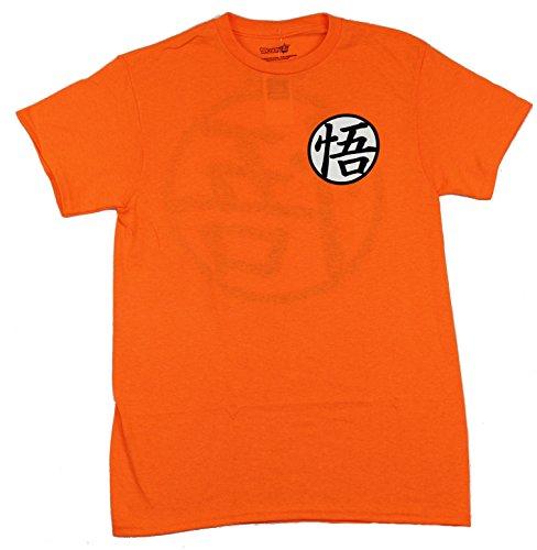 Great Eastern Entertainment Dragon Ball Z Men's Dragon Ball Super Goku Symbol T-Shirt, Large, Orange ()