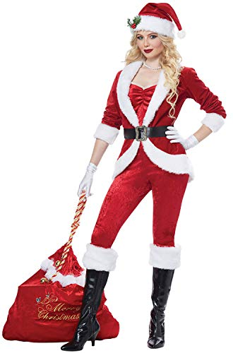 California Costumes Women's Sassy Santa-Adult Costume, Red/White, Large