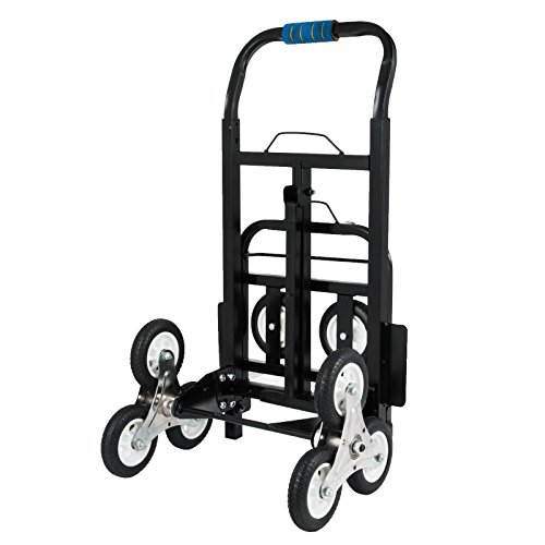 Happybuy Stair Climbing Cart 45 Inches Portable Hand Truck 2x Three-wheel Hand Truck Stair Climber 330LB Capacity Folding Stair Hand Truck Heavy Duty by Happybuy (Image #4)