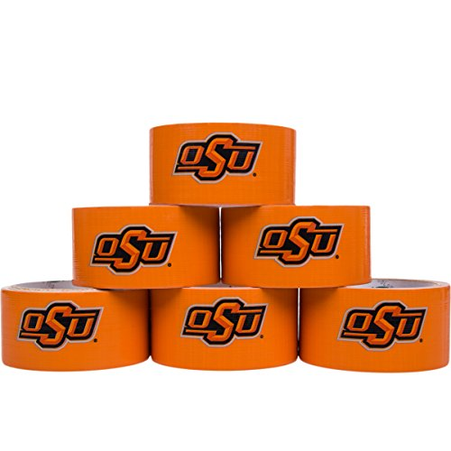 (Duck Brand 6 Rolls 10 Yard College Logo Duct Tape School Team Decorative Collegiate NCAA Sports Fan Bulk Lot Oklahoma State)