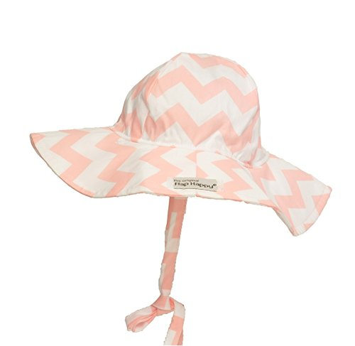 UPF 50+ Floppy Hat | Coral Chevron Medium
