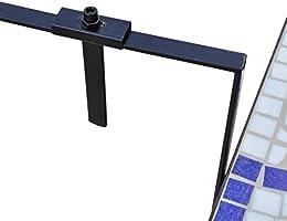 vidaXL Mesa Colgante de Balcón de Mosaico Semicircular Color Azul ...
