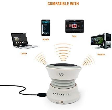 Amkette Trubeats Solo Portable Mobile/Tablet Speaker  White,1.0 Channel  Mobile Speakers
