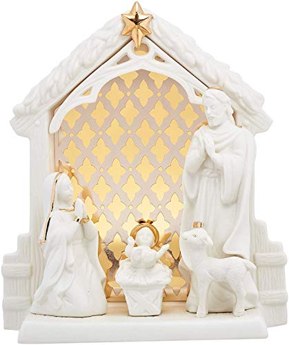 Lenox Holiday Lit Nativity Christmas Scene Porcelain with 24k Accents 7