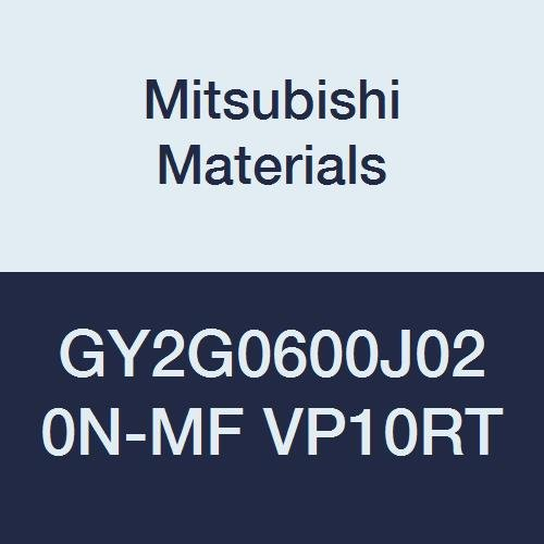 Ground Peripheral Pack of 10 Mitsubishi Materials GY2G0600J020N-MF VP10RT Carbide GY Series Grooving Insert J Seat Coated Neutral Hand 0.008 Corner Radius 0.236 Grooving Width