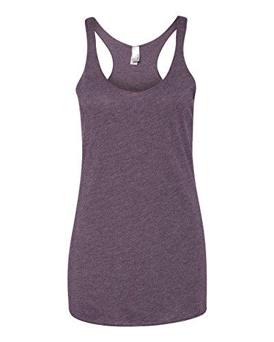 Next Level Apparel Women's Premium Tri-Blend Racerback Tank, Vintage Purple, - Tri Womens