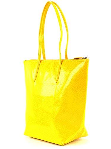 LACOSTE L.12.12 Concept Glossy Vertical Tote Bag Lemon