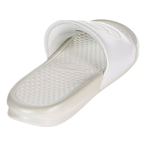 Summit Benassi Metallic NIKE Femme White Fitness Wht Multicolore Summit QS Mtlc JDI Chaussures WMNS 100 de qxggSwC