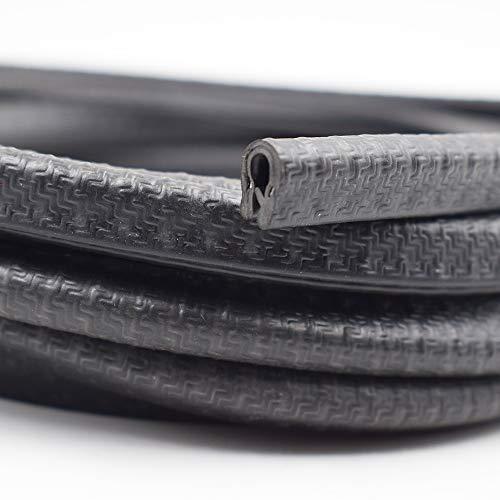 KX Edge Trim Black Small, 1/8″ Fits Edge, PVC Plastic Edge Trim U Shape Black Large Edge Protector (10 Feet)