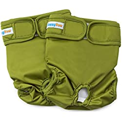 HappyPaw 2pc Green Dog Diaper … (MEDIUM)