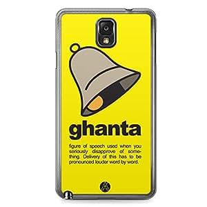Designer iPhone Samsung Note 3 Tranparent Edge Case - Ghanta