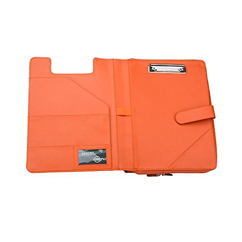 Deluxe Document Portfolio Case with Handle and Expanding File Pockets,Orange by iCarryAlls
